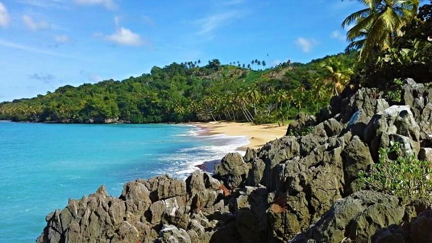 A pristine beach