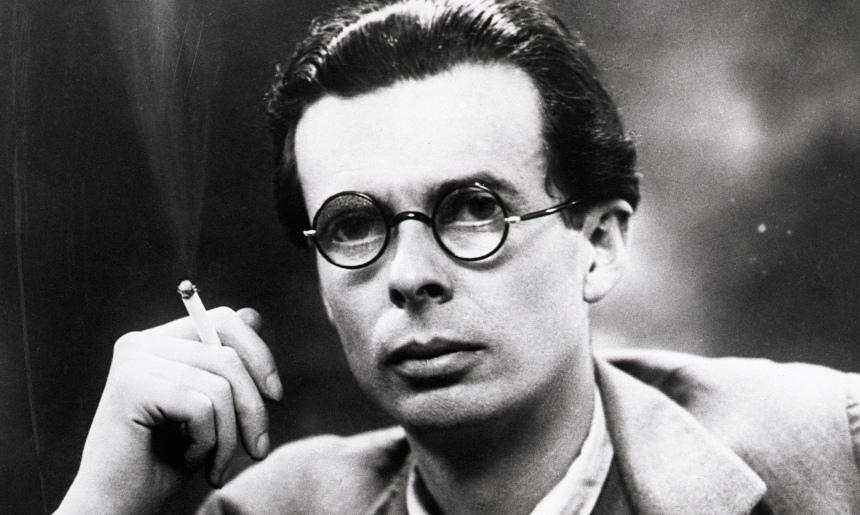 Aldous Huxley smoking, circa 1946