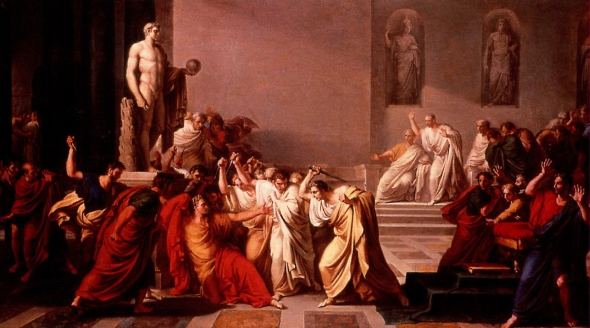"Vincenzo Camuccini, ""The Death of Caesar"" (1798)"