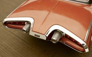 The jet engine theme carries over to the rear of the Chrysler Turbine