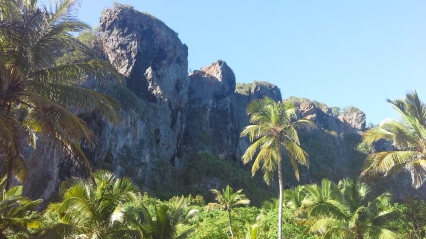 Cliffs on a remote part of the Samana peninsula