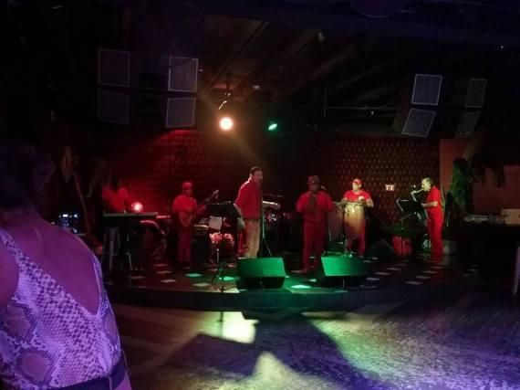 Live Salsa music - fun!