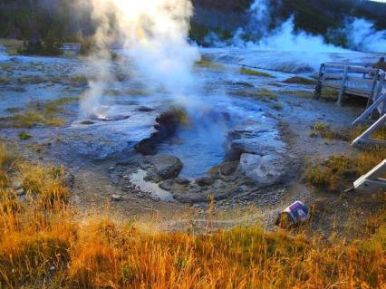 Hot spot in Yellowstone