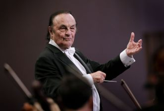 Mandatory Credit: Photo by ROBERT GHEMENT/EPA-EFE/REX/Shutterstock (9052124i) Charles Dutoit George Enescu International Festival in Bucharest, Romania - 12 Sep 2017 Swiss conductor Charles Dutoit directs the Royal Philharmonic Orchestra while performing George Enescu's Romanian Rhapsody no. 1 in A major op. 11 no.1 the at Grand Palace Concert Hall during the George Enescu International Festival in Bucharest, Romania, late 12 September 2017. The festival, held since 1958 every two years, is the biggest classical music festival held in Romania, in honor of famous Romanian composer and violinist George Enescu.