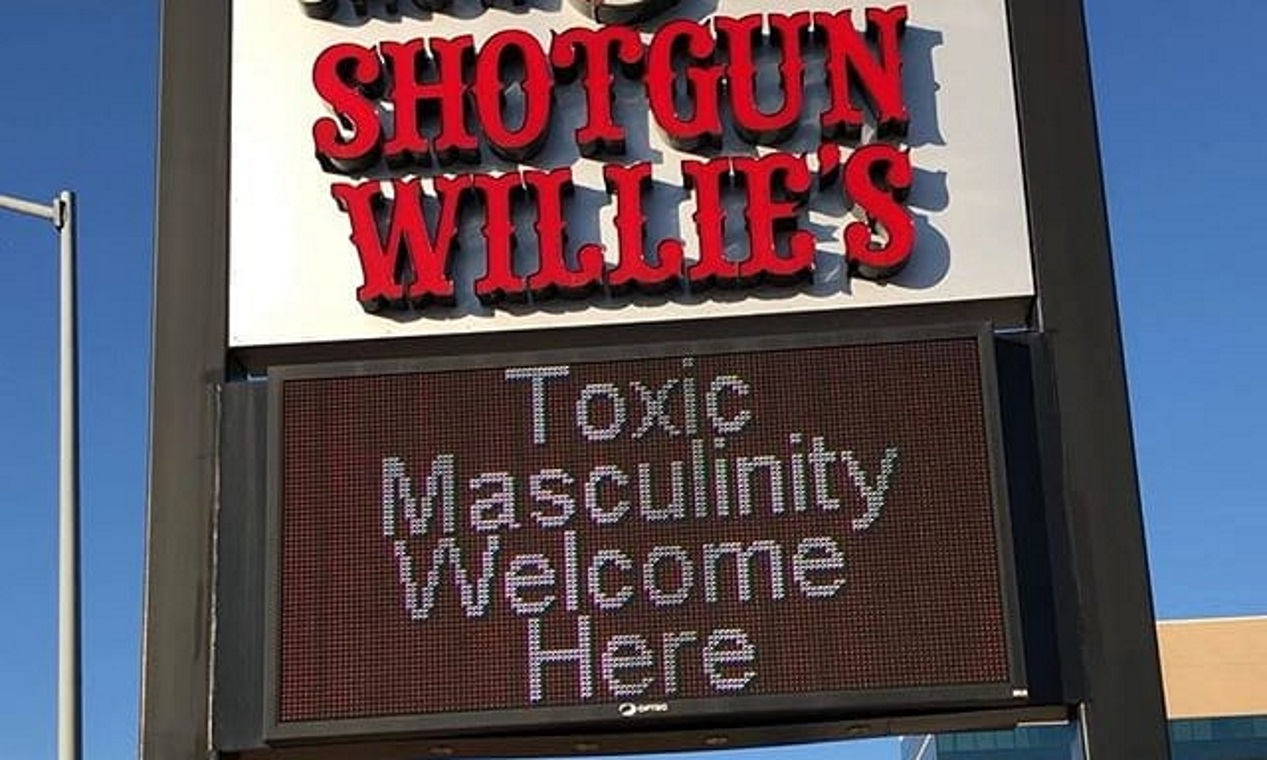 """Men Are Not Toxic"" Strip Club Sign Causes Controversy ..."