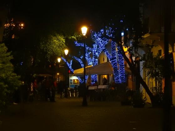 Christmas lights in El Capital