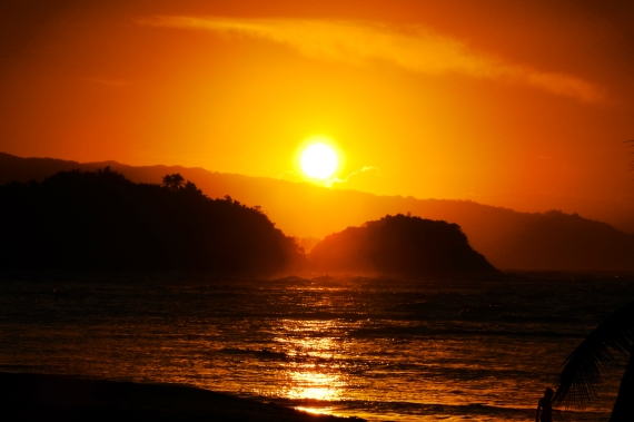 Sunset near Playa Las Ballenas