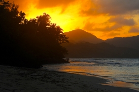 Sunset near Playa Rincon
